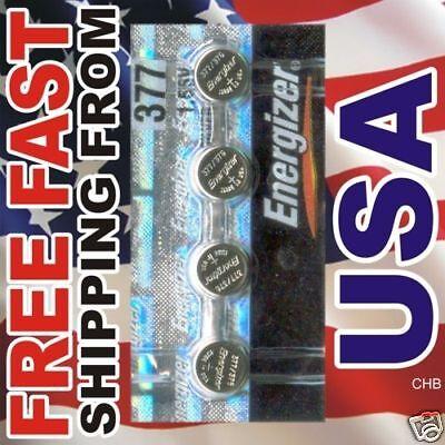 4 NEW ENERGIZER 377 376 SR626SW SR626W watch battery