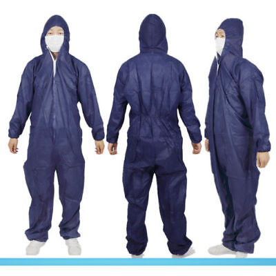 Mens Disposable Diy Paper Suit Protective Overall Coverall Work Clothes