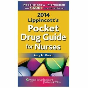 Lippincott Nursing Drug Guide by Amy Karch (2014, Paperback)