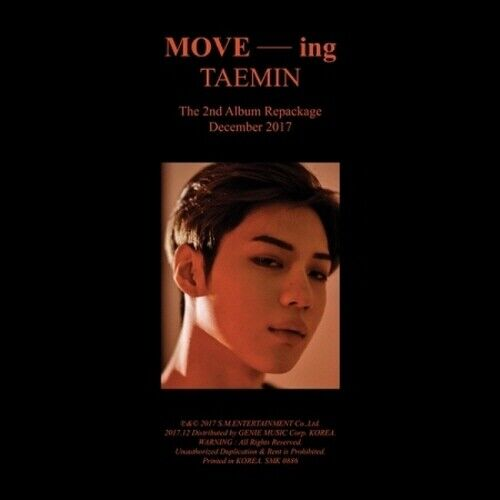 US SHIPPING Shinee Taemin-[Move-ing] 2nd Repackage Album CD+64p Booklet+Card