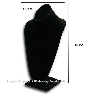 Tall Black Necklace Pendant Chain Display Bust 8 14w X 6 34d X 14 12h