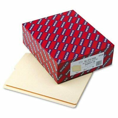 Smead 24128 Manila End Tab File Folders With Reinforced Tab - Letter - 8.50 X