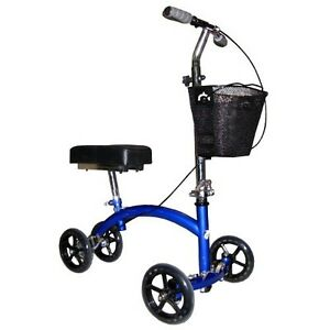 Knee walker mobility scooter steerable deluxe heavy duty for Mobility walker