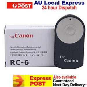 RC-6 Wireless Remote Control for Canon Digital Cameras OZ SELLER BRAND NEW
