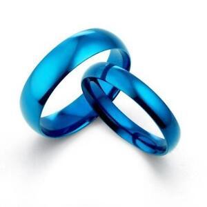 mens blue titanium ring - Blue Wedding Ring