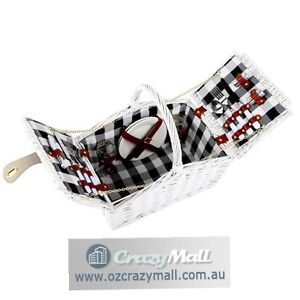 2 People Picnic Basket Setting with Insulated Wine Compartment Melbourne CBD Melbourne City Preview