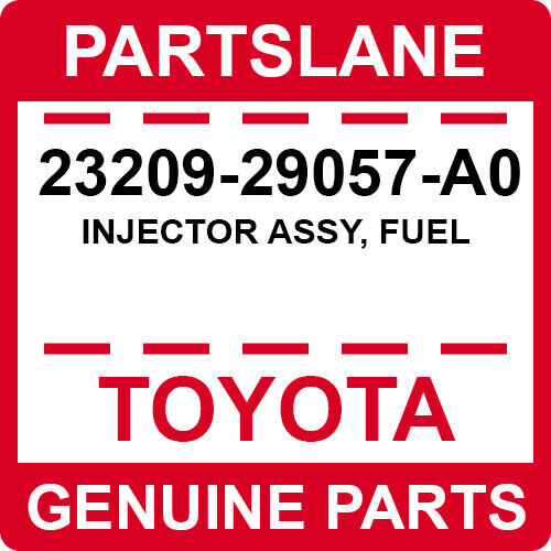 23209-29057-a0 Toyota Oem Genuine Injector Assy, Fuel