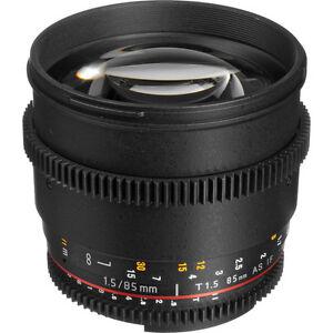 ROKINON/BOWER 85MM T1.5 Nikon Mount MINT