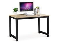 Brand new, still flatpacked, Tribesigns Modern Style Computer Desk , Walnut + Black Legs finish