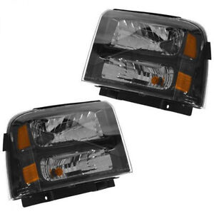 05-07 PAIR HEADLIGHTS SET FORD F-250 F-350 F250 F350 SUPERDUTY H