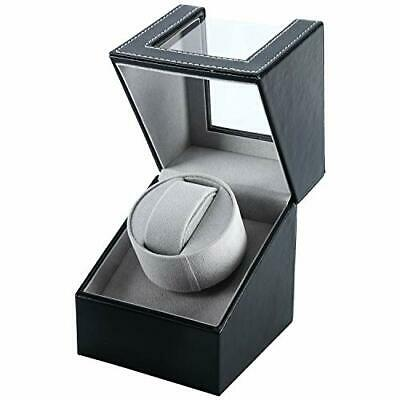 Automatic Single Watch Winder Wood Display Box Organizer Japan Mabuchi Motor