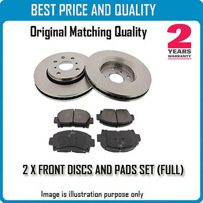 FRONT BRKE DISCS AND PADS FOR NISSAN OEM QUALITY 273454