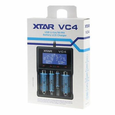 XTAR VC4 USB Charger LCD Display Li-ion Ni-MH 14500 18650 26650 AA AAA+