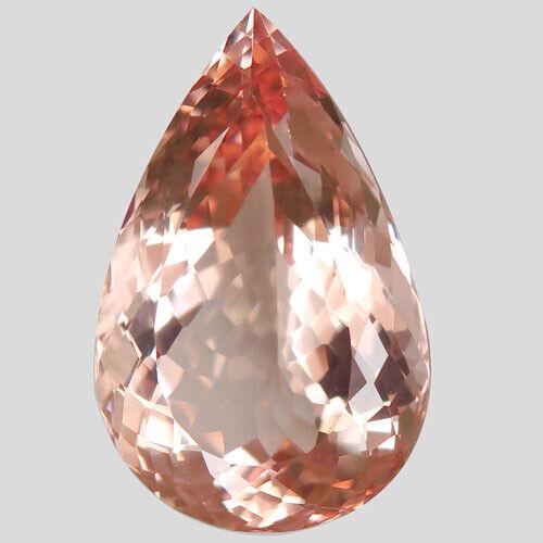 30.87ct.Shinning! Natural Hot Padparadsha Morganite(Pink Emerald)28x18mm.AAA CE