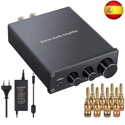 Amplificador Audio Estéreo 2 Canales Mini Hi-Fi Amplificador de Potencia Amp
