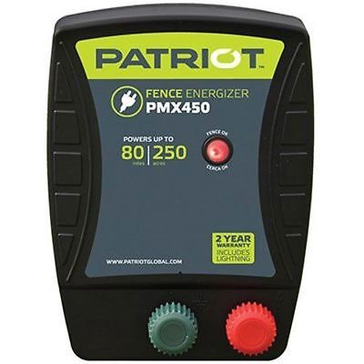 Patriot Pmx450 Electric Fence Charger Energizer 4.5 Joule 80 Mile 250 Acre