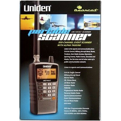 UBC125XLT Uniden Bearcat Radio Scanner Covers Military Air Band with Close Call