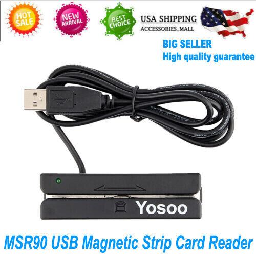 USB MSR Magnetic Stripe Card Reader Encoder Credit Magstrip MSR90 FAST SHIPPING
