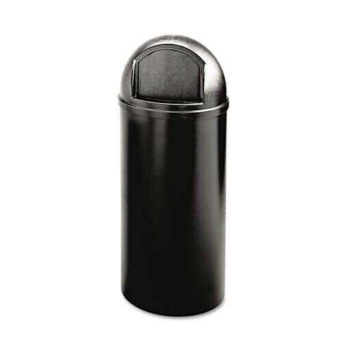 Rubbermaid 25-Gal. Round Classic Container (Black) 817088BK NEW