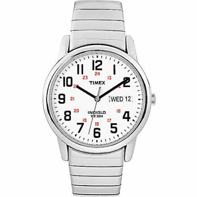 Timex T2N091, Men's Easy Reader X- Long Expansion Band Watch, Indiglo, Date