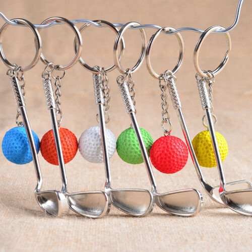 Classic Sports Silver Golf Clubs Keychain Keyring Key Chain Ring Gift White &l 3