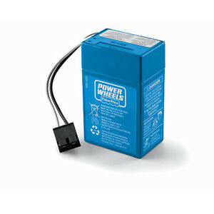 New-Power-Wheels-6V-6-volt-BLUE-BATTERY-00801-1457-Replaces-00801-1900