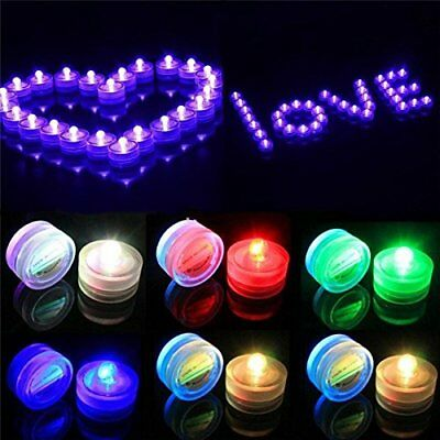 Wedding Tea Lights (Waterproof Submersible LED Tea Lights Underwater Battery Sub Lights for)