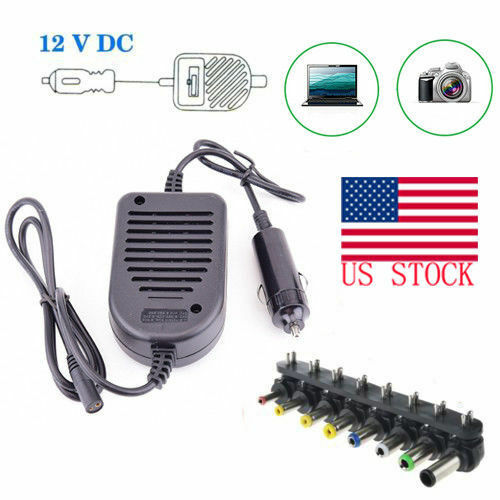 80W Universal Car Charger Power Supply Adapter For Laptop SO