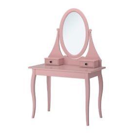 Pink Ikea Hemnes Dressig Table