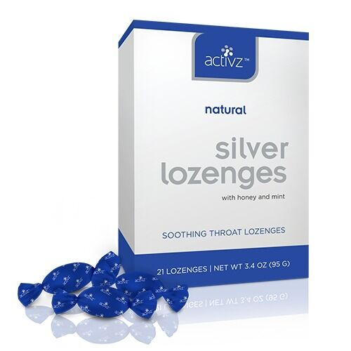Activz 30 PPM Silver Throat Lozenges with Honey & Mint 25% Off Intro Sale