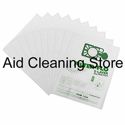 10 x Numatic Henry Hetty HEPAFLO Hoover Bags Vacuum Cleaner Cloth Hepa Flo Bag