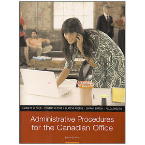 ADMINISTRATIVE PROCEDURES FOR THE CANADIAN OFFICE 8/e