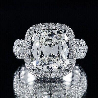 2.95ct GIA 18K White Gold Cushion Diamond Engagement Ring G/VS1 (2176519791)