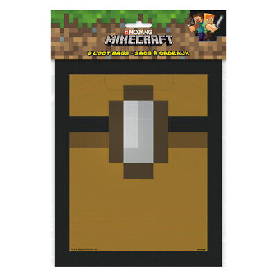 MINECRAFT FAVOR BAGS (8) ~ Birthday Party Supplies Treat Loot Goody Sacks Games](Mine Craft Party Supplies)