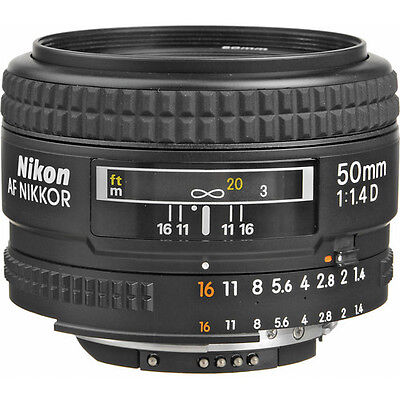 Nikon Normal AF Nikkor 50mm f/1.4D Autofocus Lens NEW
