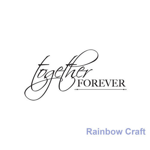 Kaisercraft mini stamps - 26 wording / patterns Scrapbooking card making - Together  Forever