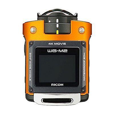 kb09 RICOH WG-M2 Orange 4K Waterproof Action Video Digital Camera Japan