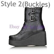 Black Wedge Ankle Boots