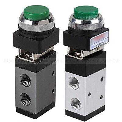 3 Way 2 Position Pneumatic Valve Pt 14 Push Button Actuator Msv-98322ppl