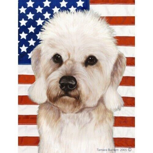 Patriotic (D2) Garden Flag - Mustard Dandie Dinmont Terrier 322101