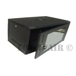 Wall Mount IT Server Data Network Cabinet Rack Glass Door Locking Lockable - 6U