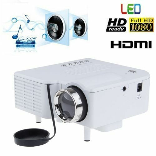 Mini Portable LCD LED Proyector Projector PC Laptop VGA/USB HD 1080P USB