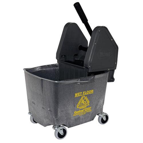 Down Press Bucket/Wringer Combo, 35 Qt, Gray