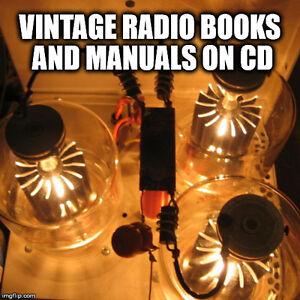 Vacuum Tube Radio TV Repair Service Schematics Manuals Valves RCA EIMAC GE  CD