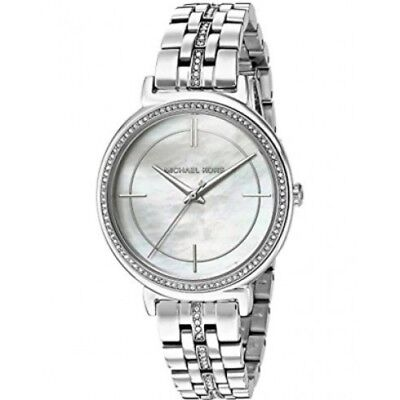 Michael Kors Women's MK3641 Cinthia Stainless Steel Mother of Pearl Dial Watch