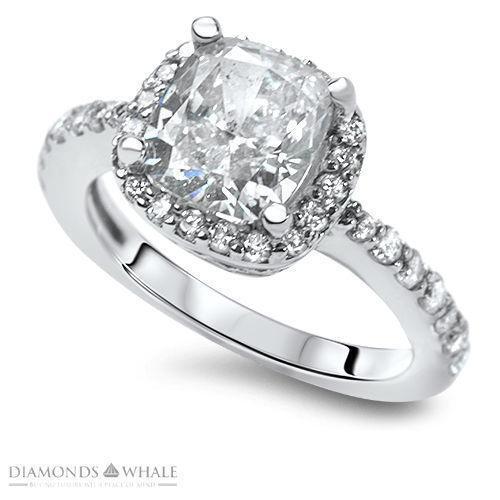 Pave Halo Engagement Ring Ebay