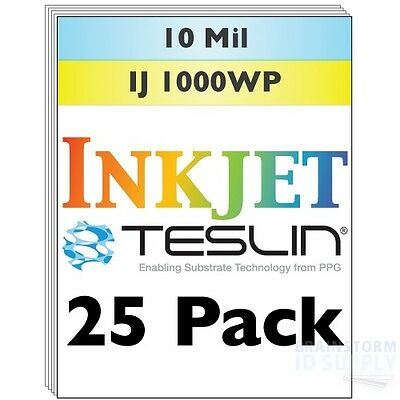 Inkjet Teslin Synthetic Paper For Making PVC-Like ID Cards - 25 Sheets