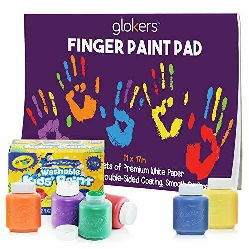 Finger Paint Paper Pad 11x17 50 Sheets With Crayola Washable Kids Paint