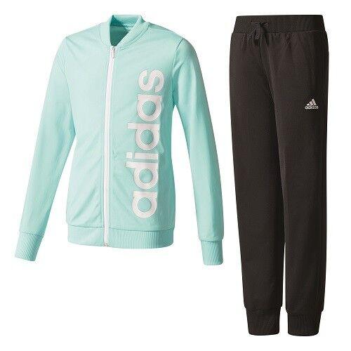 ADIDAS Linear Polyester Kinder Sport- Training- Jogging Anzug Mädchen CF1247