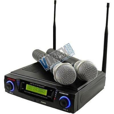 Pyle Pro PDWM3300 2 X Wireless Professional UHF Dual Channel Microphone System